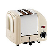 Dualit 75-987 Vario 2-Slice Utility Toaster, Polished and Cream