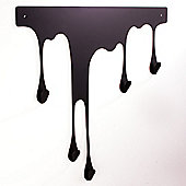 pulpo Drop Wall Coat Rack - Black