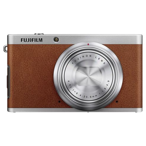 Fujifilm XF1 Digital Camera, Brown, 12MP, 4x Optical Zoom, 3 LCD Screen
