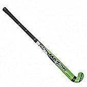 "Mazon Jnr 500 Hockey Stick Lightweight Wood Core Black Handle 35"" Lime"