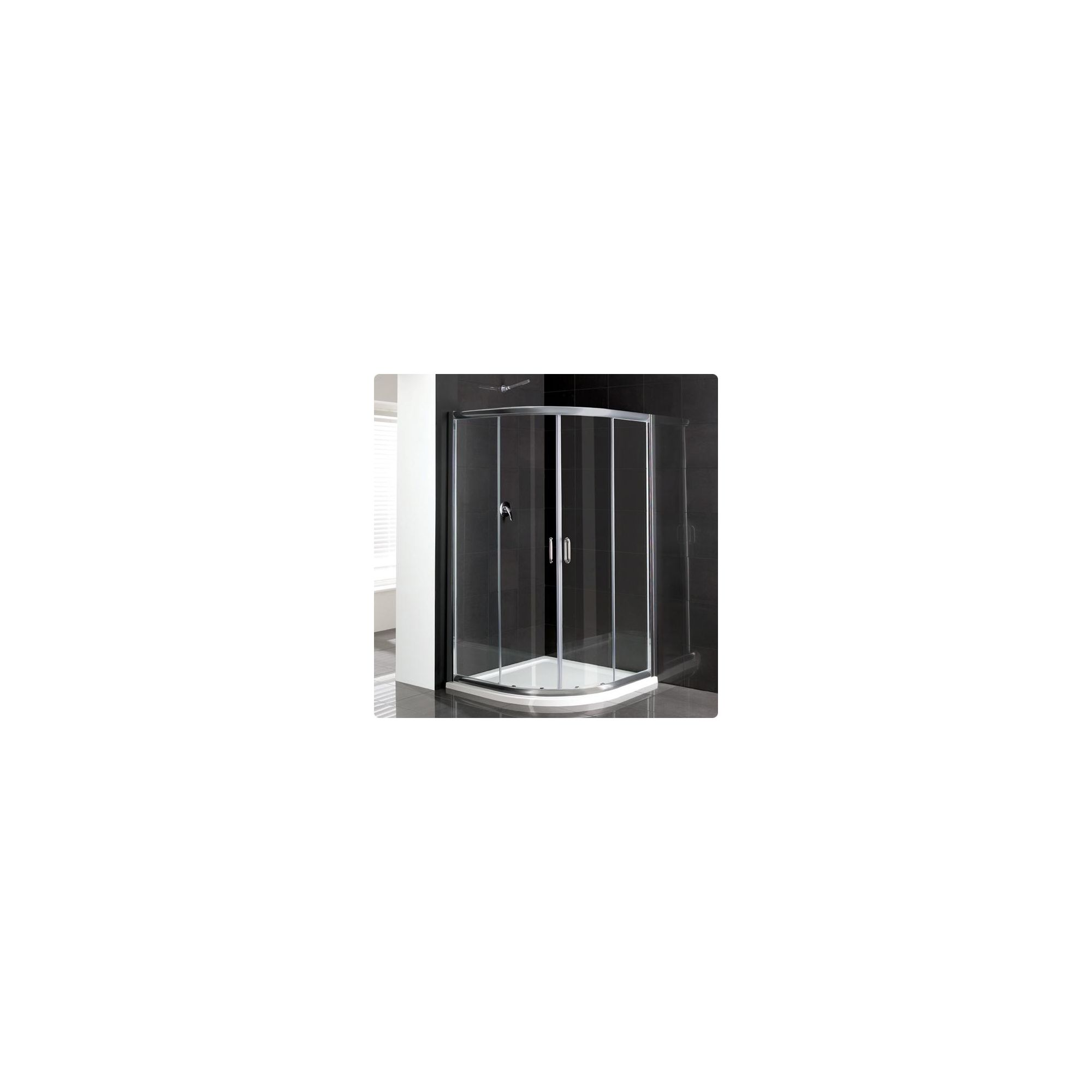 Duchy Elite Silver Quadrant Shower Enclosure 900mm, Standard Tray, 6mm Glass at Tesco Direct