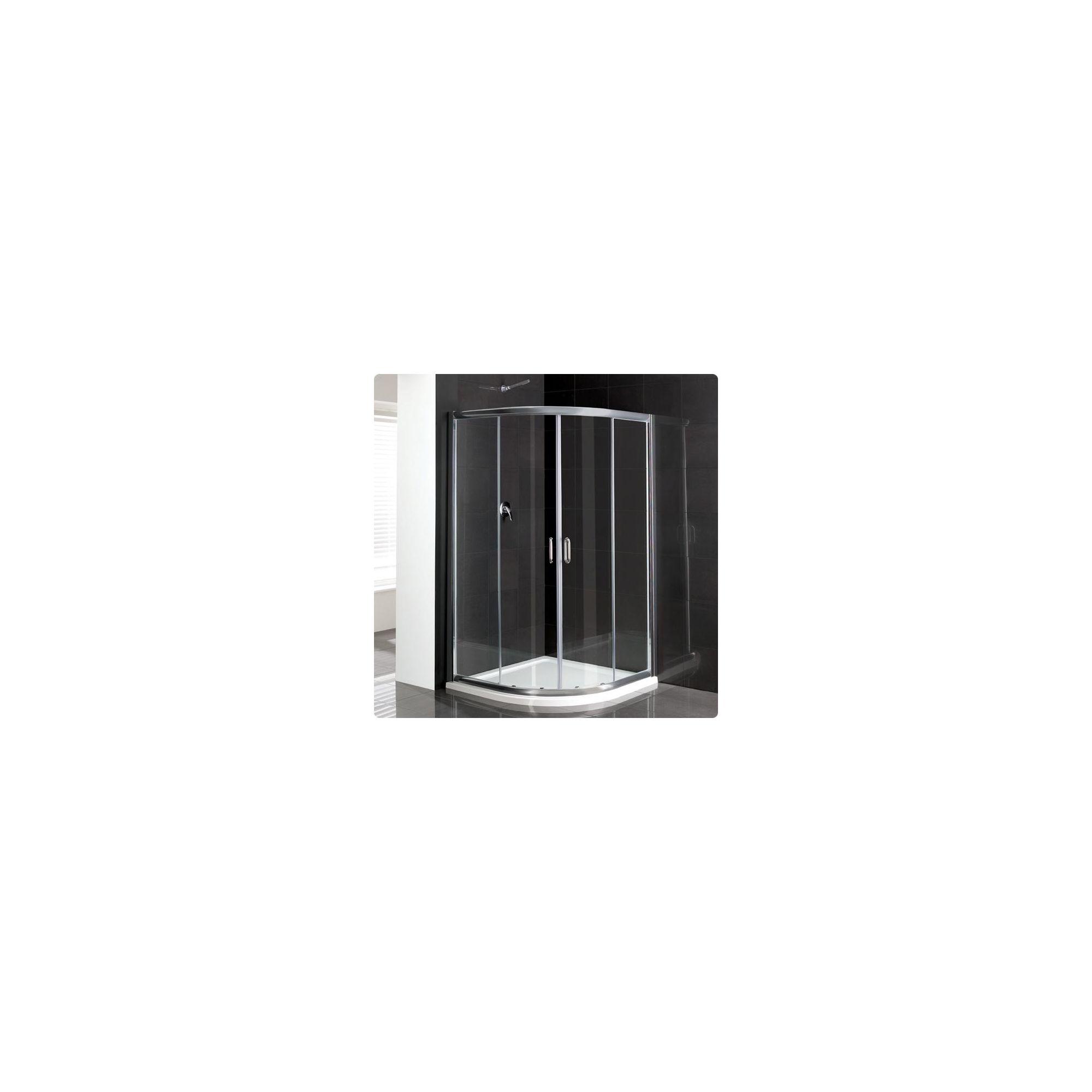 Duchy Elite Silver Quadrant Shower Enclosure 900mm, Standard Tray, 6mm Glass at Tesco Direct