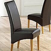 Mark Harris Furniture Venice Oak Dining Chair (Set of 2) - Brown