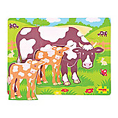 Bigjigs Toys BB009 Chunky Puzzle Cow and Calf