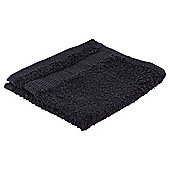 Tesco Basics Bath Sheet, - Black