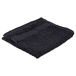 Tesco Basics Face Cloth, Black