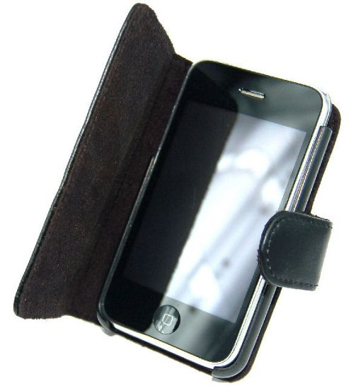U-bop Neo-ORBIT Horizontal Leather Case For Apple iPhone 3G, 3GS (3rd Generation) (Black)