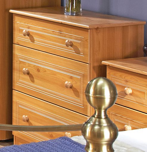 Welcome Furniture Corrib 3 Drawer Deep Chest - Pine