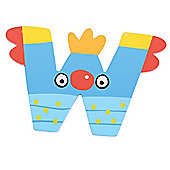 Tatiri Crazy Bird Letter W (Blue)