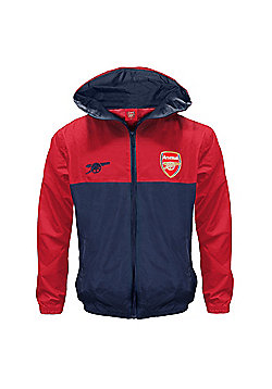 Arsenal FC Boys Shower Jacket - Red