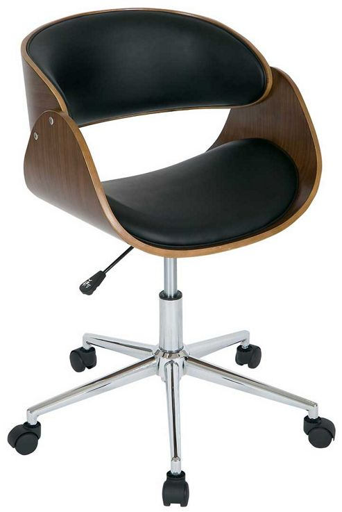 Buy Walnut and Black Height Adjustable Computer Chair from our