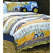 Field Days, Tractor Double Duvet - 100% Cotton