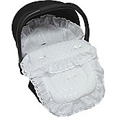 Cuddles Collection Broderie Anglais Car Seat Footmuff (White)