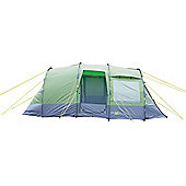 Yellowstone Lunar 4 Man Camping Tent With 2 Side Doors Green