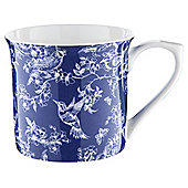 Toile Palace Mug, Navy