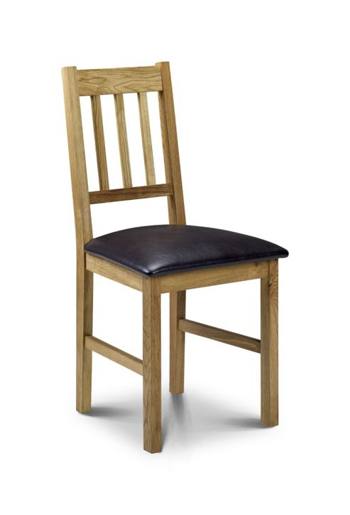 Julian Bowen Coxmoor Dining Chair in Solid Oak (Set of 2)