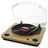 Ion Max LP Turntable, Natural Wood