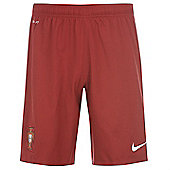 2014-15 Portugal Nike Home Shorts (Red) - Red
