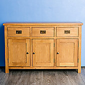 Surrey Oak 3 Door Sideboard - Rustic Oak