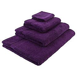 Tesco Hygro 100% Cotton Bath Towel, Berry