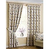 Papillon Pencil Pleat Curtains - Mauve