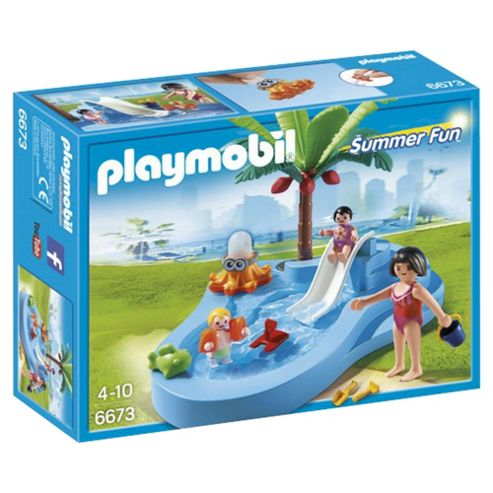 Buy Playmobil 6673 Summer Fun Water Park Baby Pool With Slide From Our Playmobil Range Tesco