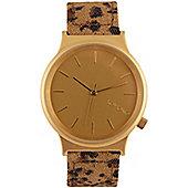 Komono Wizard Print Leopard Watch - KOM-W1802
