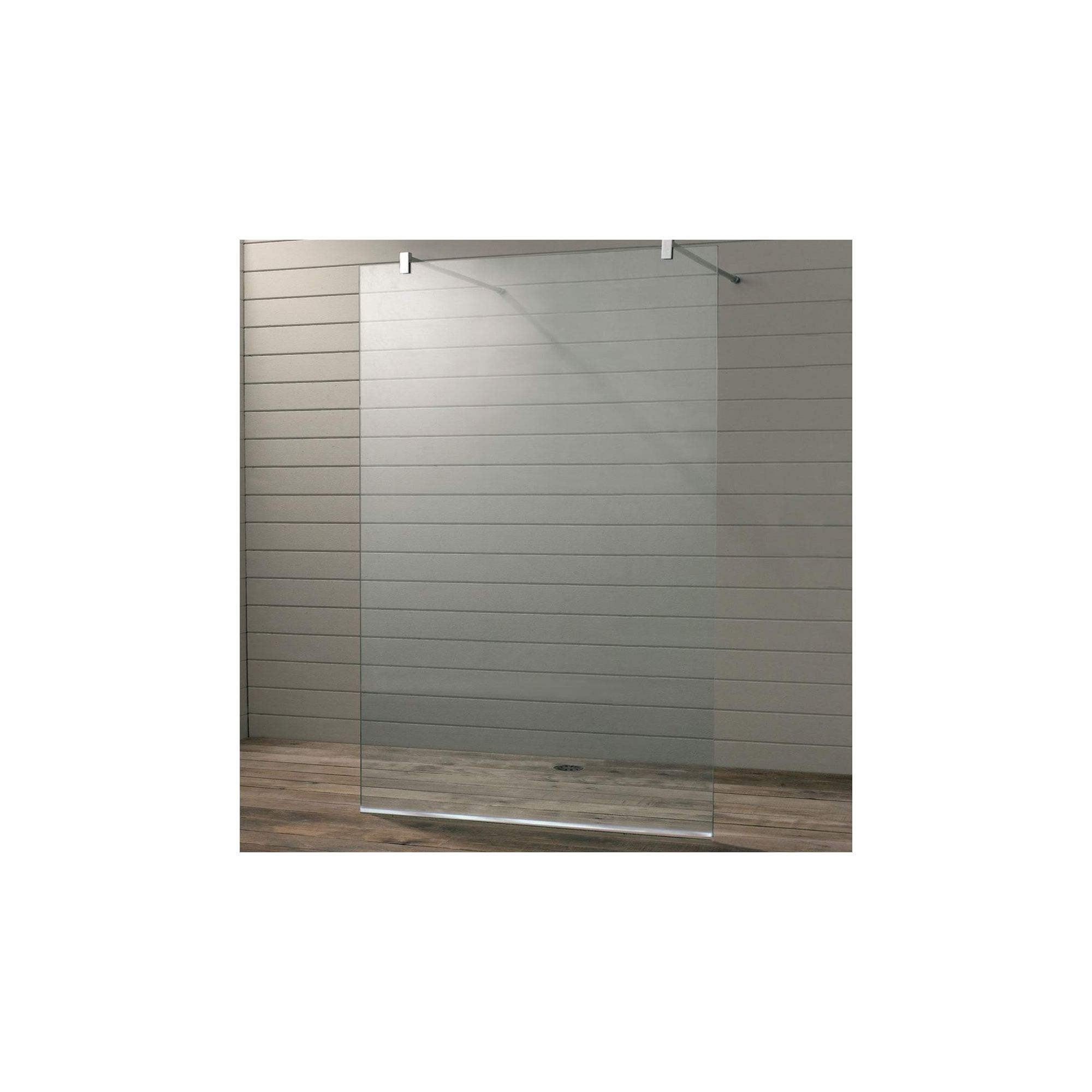 Duchy Premium Wet Room Glass Shower Panel, 800mm x 700mm, 10mm Glass, Low Profile Tray at Tesco Direct