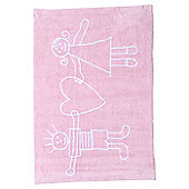 Lorena Canals Soliaria Pink Children's Rug - 140 cm W x 140 cm D (4 ft 9 in x 4 ft 9 in)