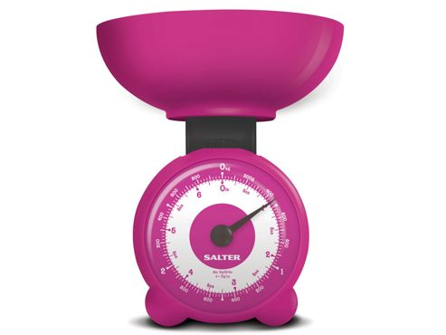 Salter 139Pkdr Kitchen Scale Clock Face Orb Fuschia