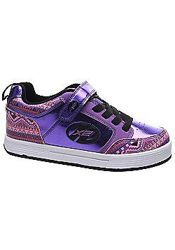 Heelys X2 Thunder - Purple/Multi/Print - Size - Junior UK 11 - Purple