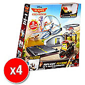 Disney Planes Fire & Rescue Riplash Flyers Rip 'N' Rescue Headquarters (Bulk Value 4 pack)