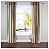 Silhouette Lined Eyelet Curtains W117xL137cm (46x54'') - - Natural