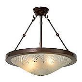 Kansa Lighting Pinestar Dish Hanging Uplighter
