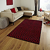 Think Rugs Matrix Red Rug - 160 cm x 220 cm (5 ft 3 in x 7 ft 3 in)