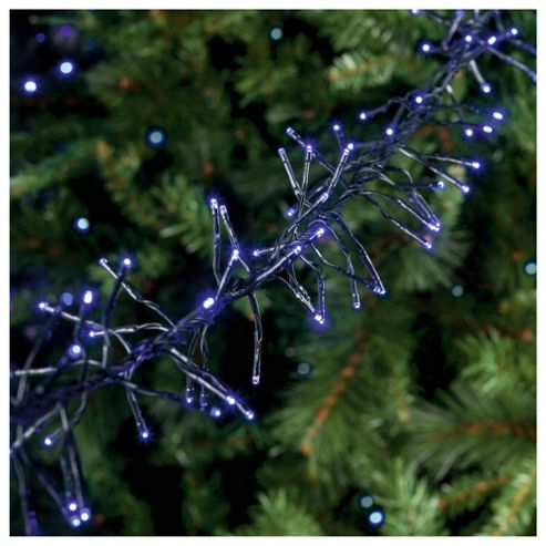 Festive 720 LED Cluster Lights, Warm Blue