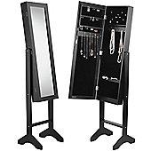 Beautify Floor Standing Mirror and Jewellery Organiser - Black