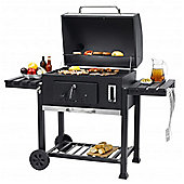 Toronto XXL Charcoal BBQ Grill - With Double Side Tables