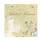 Enchanted Maid of Honour Wedding Thank You Card