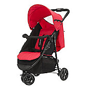 Obaby Tour 3 Wheeler Stroller - Black & Red