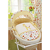 Lollipop Lane Tiddly Wink Safari Moses Basket