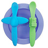 Php Oogaa Silicone Mealtime Set purple, Green And Blue