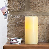 Medium Church Pillar Wax Battery LED Candle With Timer