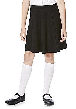 F&F School Girls Jersey Skater Skirt - Black
