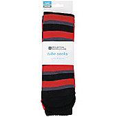 Patterned Ski Tube Socks - Two Pack - Red