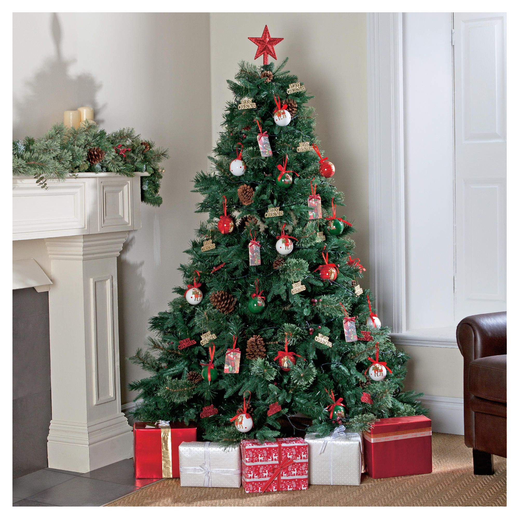 Luxurious Christmas Trees: Tesco 7ft Luxury Regency Fir Christmas Tree