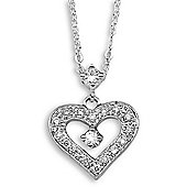 Jewelco London 18 Carat White Gold 16pts Diamond Pendant