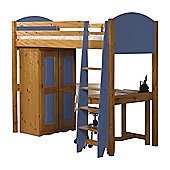 Verona High Sleeper Bed - Bed Frame Only - Blue
