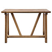 Portobello Trestle Console Table Rustic Pine