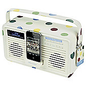 Viewquest Emma Bridgewater Retro DAB+/FM Radio with Lightning iPod dock